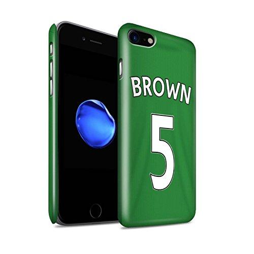 Offiziell Sunderland AFC Hülle / Glanz Snap-On Case für Apple iPhone 7 / Jones Muster / SAFC Trikot Away 15/16 Kollektion Brown