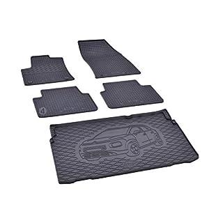 Kofferraumwanne und Gummifußmatten passgenau geeignet für Citroen C3 Aircross ab 2017 Farbe Schwarz