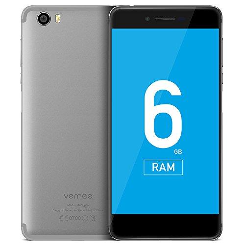 Vernee Mars Pro 4G phablet Android 7.0 5.5 pulgadas Helio P25 Okta de núcleo 2.5 GHz 6 GB de RAM Huella Dactilar 64 GB ROM 13.0 MP trasera de cámara, plata