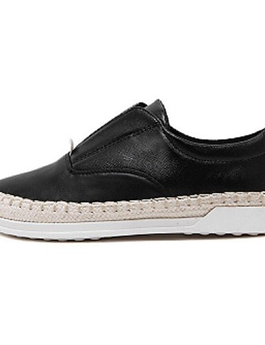 ZQ gyht Scarpe Donna-Mocassini-Casual-Comoda-Piatto-PU-Nero / Bianco / Argento , silver-us8.5 / eu39 / uk6.5 / cn40 , silver-us8.5 / eu39 / uk6.5 / cn40 silver-us6 / eu36 / uk4 / cn36
