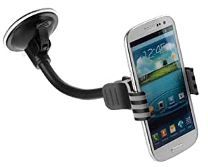 Yayago YUBA 108-W Support voiture universel pour Samsung Galaxy S4 i9500 S3 i9300 S3 mini i8190 Samsung Galaxy S2 Plus i9105 i9105P NFC HTC One