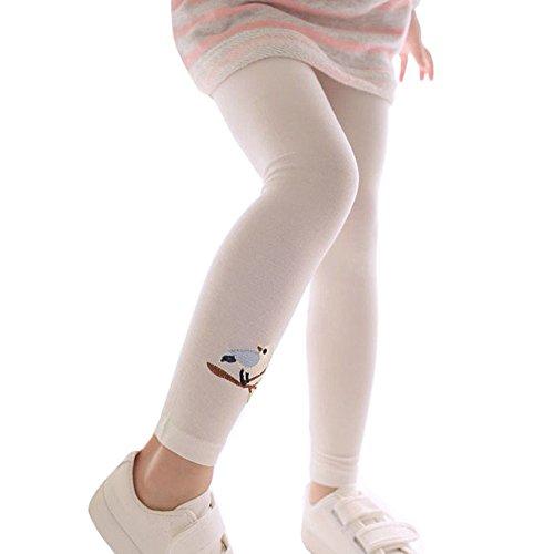 OSYARD Mädchen LeggingsHose Strumpfhose,Kleinkind Baby SkinnyBleistifthosen Kinder Niedliche Vogel Stickerei Stretchy Leggings,2-6 Jähriges Push-Up Lang PantsStoffhose Bequeme Freizeithose