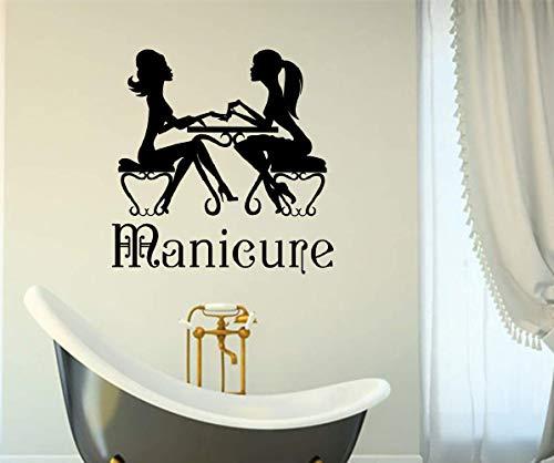 wandaufkleber 3d Wandtattoo Wohnzimmer Hot Beauty Salon Nail Art Hair Spa für ()