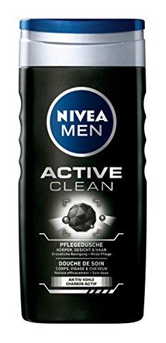Nivea Active Clean mit Aktivkohle Duschgel, 2er Pack (2 x 250 ml)