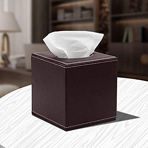 Hylph Business Haushaltspapierbox aus Leder für Papier und Handtuch für Restaurant (Farbe: Schwarz) Braun