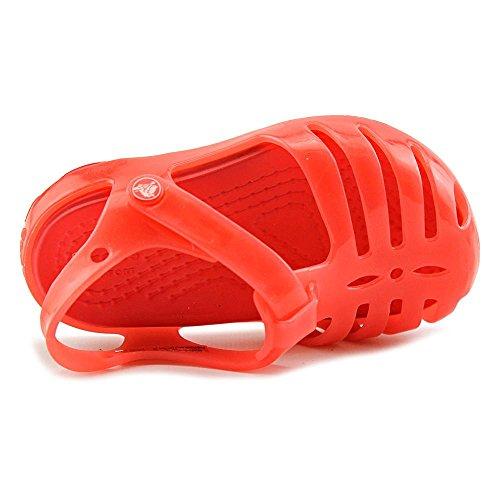 crocs Mädchen 204035 Closed-Toe Ballerinen Rot