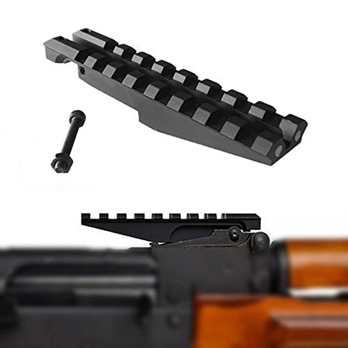 FIRECLUB Low Profile Picatinny Scope Mount for AK Series Rifles AK Rear Sight (Rifle Light Mount)