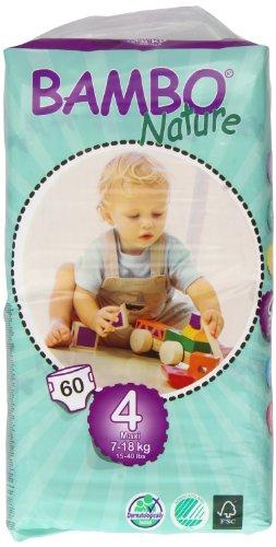 Baby Gap 3 Stück (Bambo Nature Windeln Maxi Tall, Gr.4 (7-18 kg), 3er Pack (3 x 60 Stück))