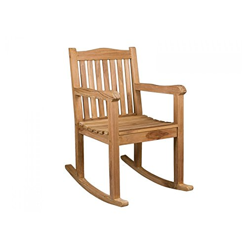 Outdoor rocking teak