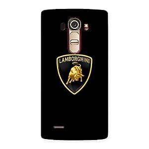 Delighted Lambo Golden Back Case Cover for LG G4
