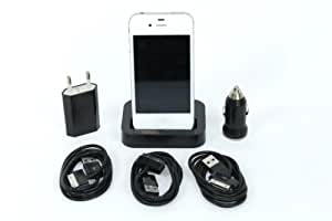 6in1 Dockingstation Ladekabel iPhone 4 4S - Ladegerät Datenkabel Dock Netzteil