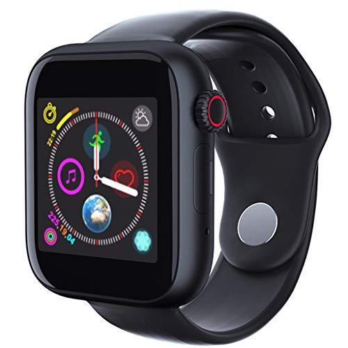 VRTUR Sportuhr (Bluetooth3.0) Smartwatch Bluetooth-Dialer SIM-Karte Einzelkarte (kleine Karte) verlorene Funktion, Schrittzähler, Musik, Videowiedergabe Armbanduhr Schwarz