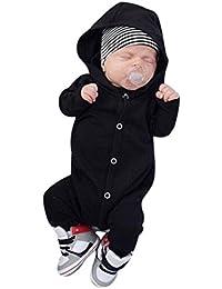 Tefamore ❤️Ropa para niños bebés Conjunto, Mono de Mameluco con Capucha de algodón Trajes