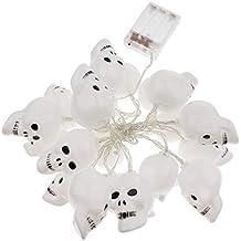 Halloween Toten Kopf Köpfe Lichterkette bunt Licht Beleuchtung 12 LED    Schädel