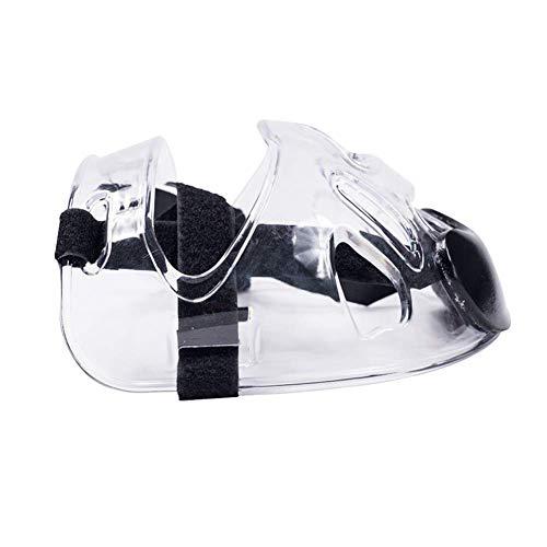 SparY Cara Escudo, Karate Kickboxing Cubierta Completa Protección de Ojos Ajustable Tiras Desmontable Equipo Protector Casco Boxeo Deportivo Transparente Taekwondo Máscara - como Imagen Mostrar