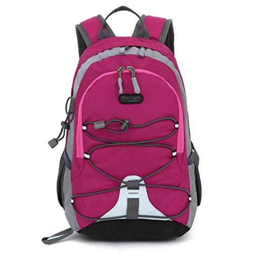 HCFKJ Schultasche, Kinder Jungen Mädchen Wasserdichte Outdoor Rucksack Bookbag Schultasche Trekking (Hot Pink) (Burton Scout)