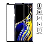 aktrend Full Screen Glas Für Samsung Galaxy Note 9 Panzer Glasfolie Display Schutz Echt Glas Full Screen Curved 9H Vollständige Abdeckung Schutzfolie Härte Anti-Kratzen Anti-Öl Anti-Bläschen