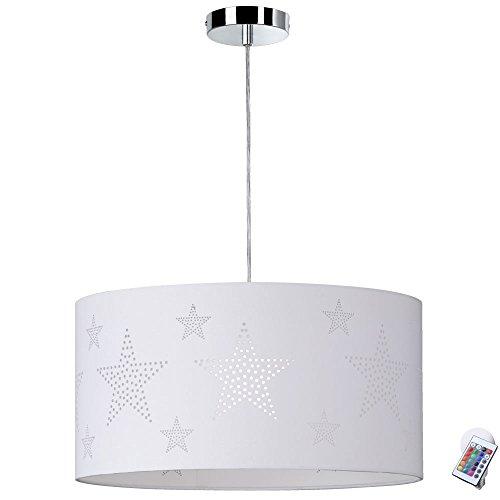 Télécommande pour plafonnier Textil avec pendentif étoile et ampoule LED RGB