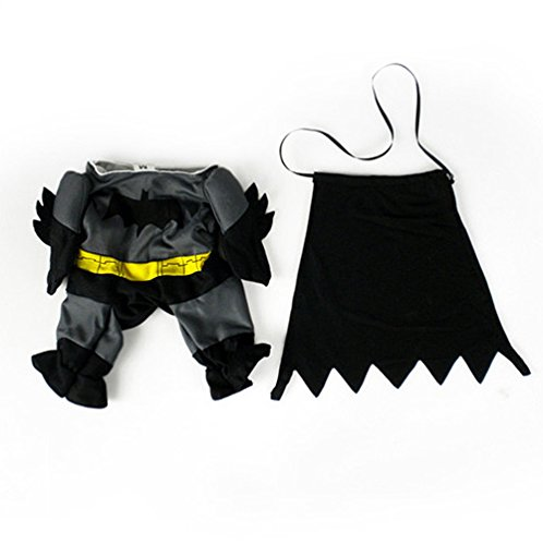 Cute Girl Kostüme Superhelden (swyivy Pet Batman Kostüm Outfit Kleidung Funny Party Fancy)