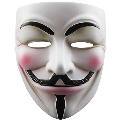 TOOGOO(R) Mascara de cosplay de resina V para Vendetta Anonymous Guy Fawkes Juguetes accesorio de disfraz de fiesta