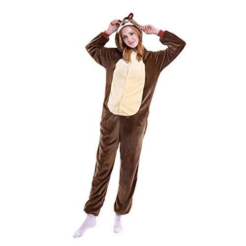 LIUJIE Winter Erwachsene Männer Frauen Unisex Schlafanzug Cosplay Halloween Home Casual Kostüm Stück Pyjamas Outfit Baumwolle Bademantel Verdickung Pyjamas,XL
