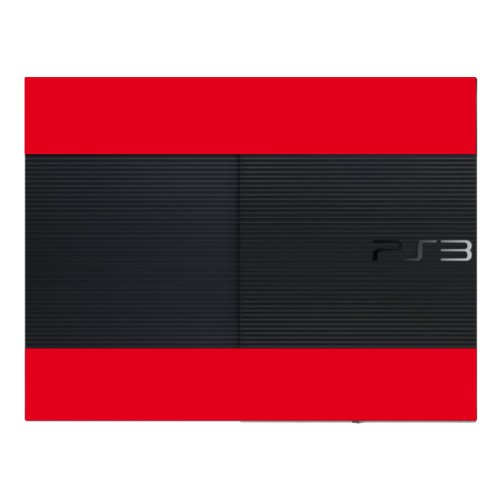 "Motif Disagu Design Skin pour Sony PS3 Ultra Slim + Controller: ""Rot"""