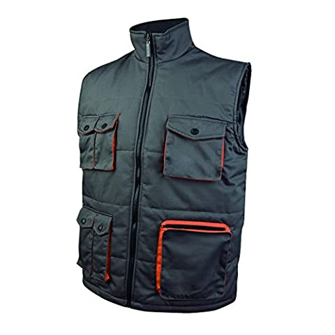 Delta Plus – Vest Polyester Cotton Mach 2 Grey/Orange Size XL