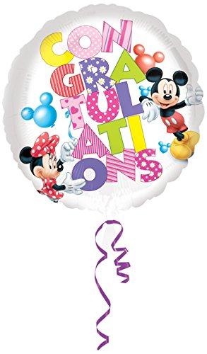 Amscan Mickey und Minnie Congratulations Standard HX Folie Ballons (Minnie Standard Kostüme)