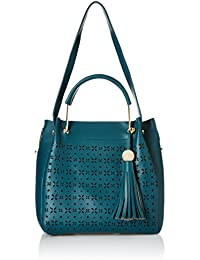 Alessia74 Women's Handbag With Pouch (Blue) (Set Of 2) (PBG511G)