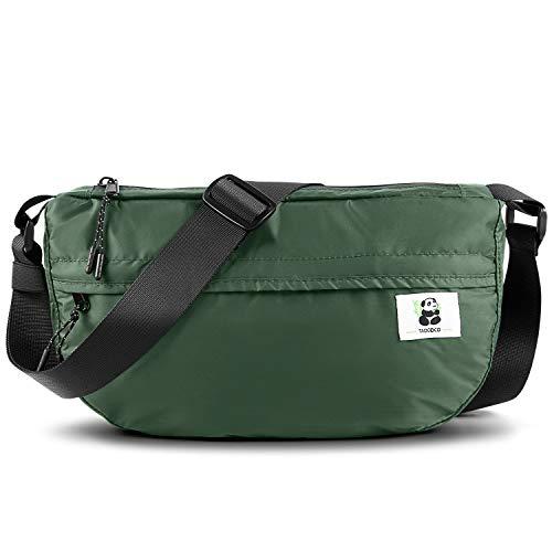 TAOCOCO Bauchtasche, wasserdicht, 4 Reißverschlusstaschen, für Reisen, Wandern, Hüfttasche für den Außenbereich, Sport, Urlaub, Geld, Hüfttasche für Damen (Schwarz, Grün), grün