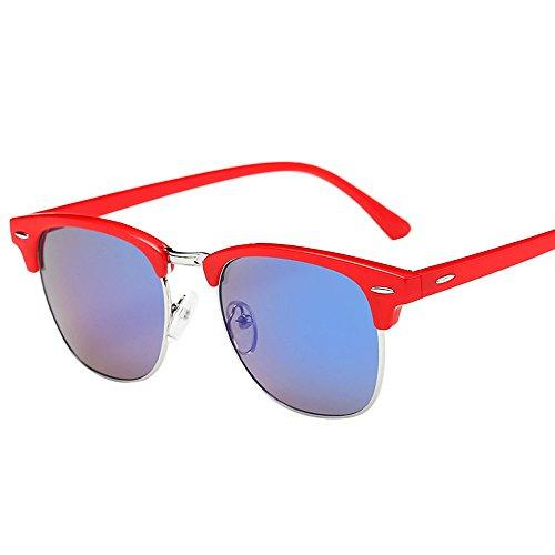 Lunettes De Soleil Covermason Hommes femmes carré Vintage en miroir lunettes de soleil lunettes Outdoor Lunettes de sport (L)