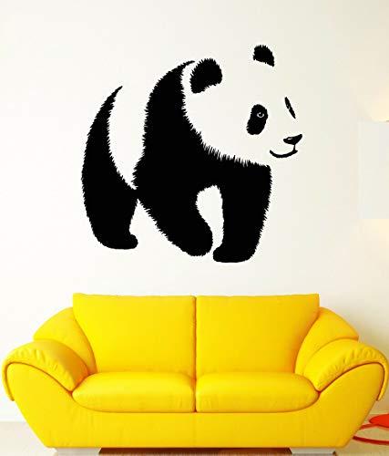 Kindergarten Panda Vinyll Wandaufkleber Baby Geschenke Asiatischer Bär Tier Zoo Aufkleber Wandtattoos für Mädchen Jungen Kinder Wandtattoo Schöne 43x42cm (Asiatische Schöne Mädchen)