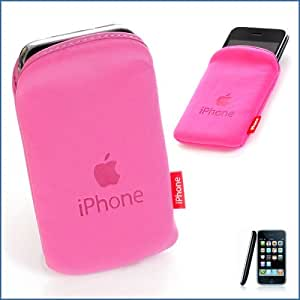 Hot Pink soft pouch - for the Apple iphone