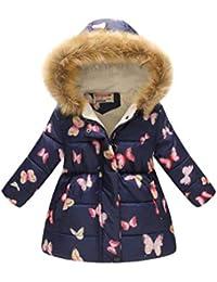 419024de1d42 Bebé Niñas Chaqueta Sudadera con Capucha Manga Larga Impreso Abrigo Hoodies