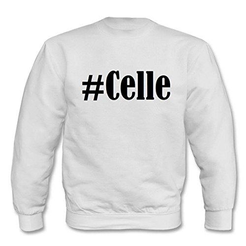 """Sweatshirt""""#Celle""""Größe""""2XL""""Farbe""""Weiss""""Druck""""Schwarz"""