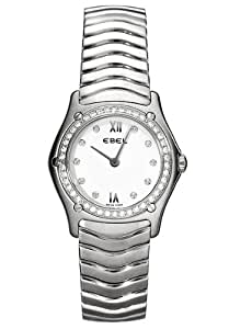 Ebel Classic Wave White Dial Stainless Steel Diamond Women's Watch 9090F24-0725