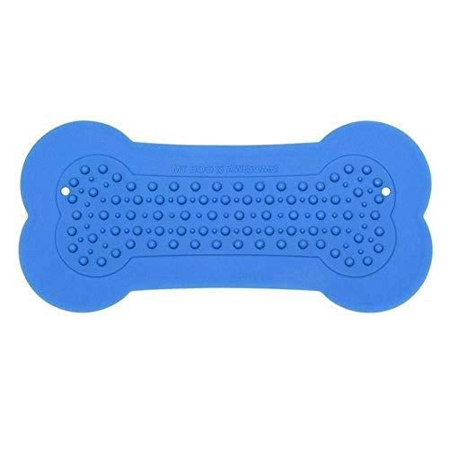 FJTHY Hundebad Bad Aufkleber Silikon Knochen Typ Spielzeug Geschenk Langlebig,Blau,Einheitsgröße