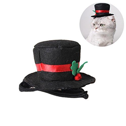 Haustier Hund Katze Zylinder Cosplay Kostüm für Weihnachten Halloween Cosplays Zubehör Urlaub Kostüm liefert (Weihnachten Urlaub Kostüme)