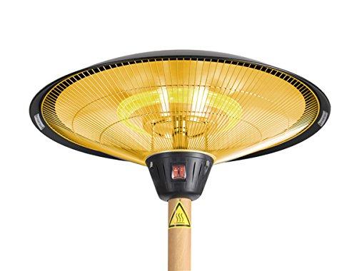 Primrose Firefly 2.100 Watt Infrarot-Heizstrahler (Halogen) Terrassenheizung, freistehend, 3 Leistungsstufen, Buchenoptik - 4