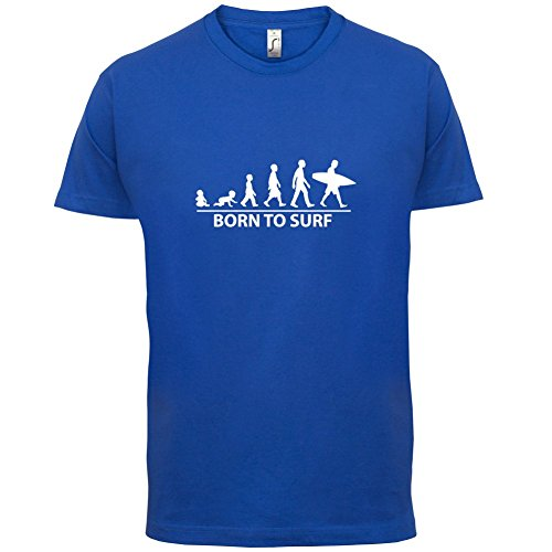 Born To Surf - Herren T-Shirt - 13 Farben Royalblau