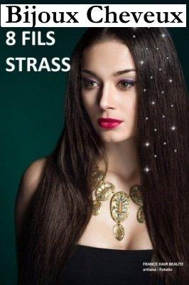 Haarschmuck. 8 Drähte SWAROVSKI-Kristall TRANSPARENT hochwertige Profi-Friseur - 6 8 Drähte mit STRASS durch FIL. ab 27 Euro Bestellwert = Beutel 8 SWAROVSKI-Motiv aus STRASS, eine angebotene SpeicherSchmuck für das Haar. Haarzusatz. kurze Haare. langes Haar. Alle Haartypen.