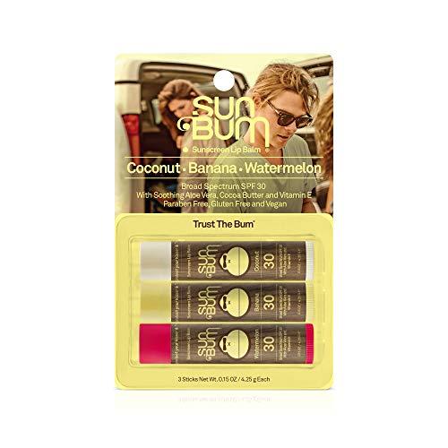 Sun Bum Sonnenschutz-Lippenbalsam, LSF 30,15 oz Stick, Lippen-Sonnenschutz, Parabenfrei 2 Pack (Coconut) -