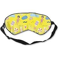 Fashion Kinder Schlafmaske für Sommer, Strand, Urlaub, bedruckt, konturierte Augenmaske preisvergleich bei billige-tabletten.eu