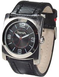 Bench BC0047BK - Reloj analógico de cuarzo para mujer con correa de acero inoxidable, color plateado
