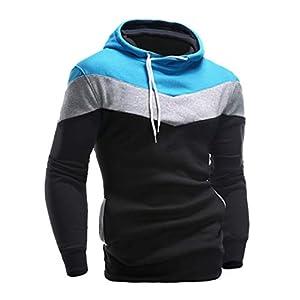 UJUNAOR Herbst Männer Langarm Hoodie Hooded Sweatshirt Tops Jacke Mantel Outwear
