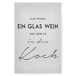 artboxONE Poster 30x20 cm EIN Glas Wein von Künstler Boris Draschoff