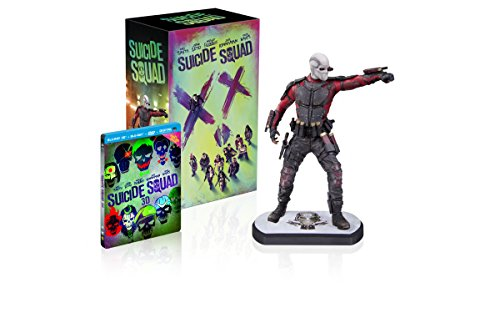 Suicide Squad [Edition limitée Amazon - Statue Deadshot + Blu-ray 3D + Blu-ray + 2D Extended Edition + DVD]