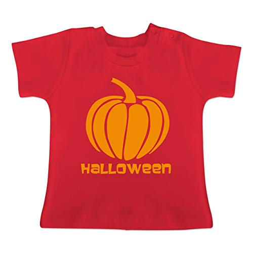 Anlässe Baby - Kürbis - 1-3 Monate - Rot - BZ02 - Baby T-Shirt Kurzarm (2019 1 Pt Halloween)