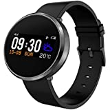 Opta SB-048 Black Bluetooth Smart Band with Heart Rate & Blood Pressure Monitor, Incoming Call Reminder