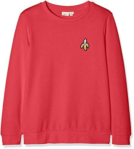 NAME IT Mädchen Sweatshirt NKFBERBEL LS Sweat UNB NOOS, Rot (Rot True Red), 134